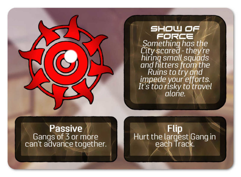 Example of a Burning Daylight Event card