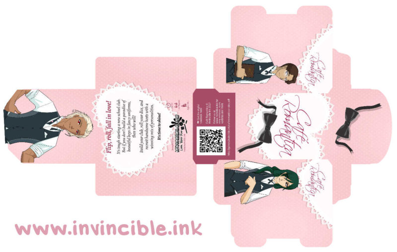 Cafe Romantica tuck box design preview