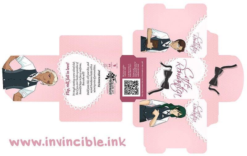 Cafe Romantica tuck box design preview