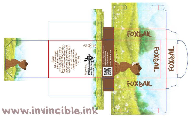 Foxtail tuckbox design preview