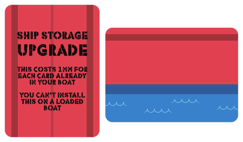 Freight Expectations ship storage upgrade card