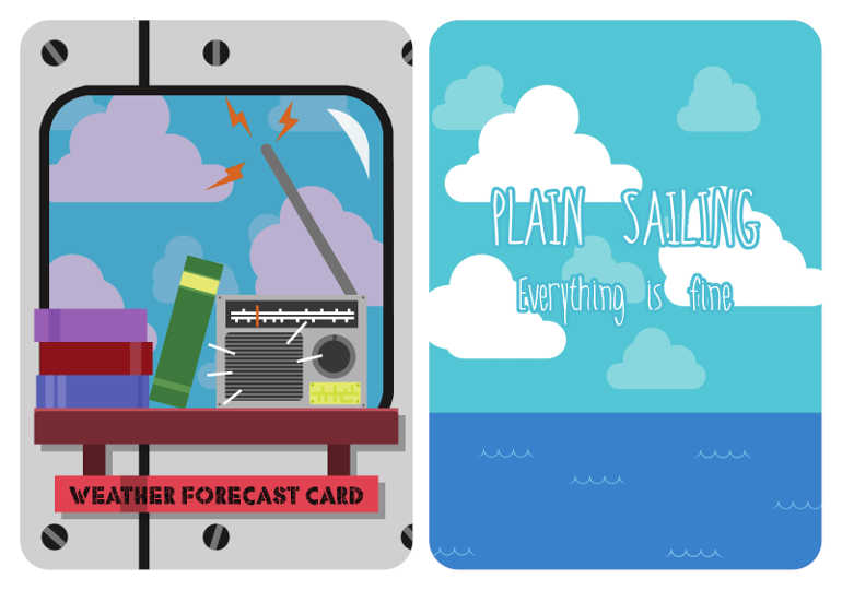 Example of a Freight Expectations weather card