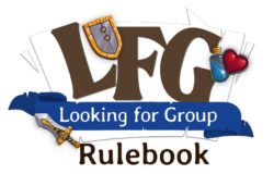 LFG: Looking for Group rulebook logo