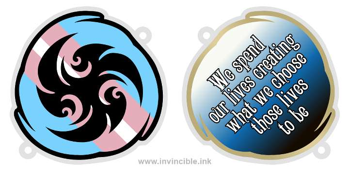 Preview of trans pride charm for the Esper shard