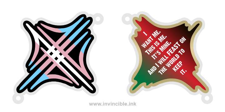 Preview of trans pride charm for the Jund shard