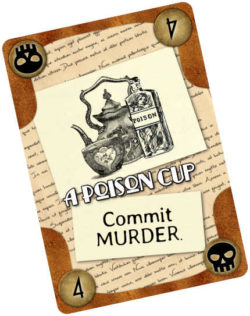 "The ""Poison Cup"" card from Murder Most Fowl"