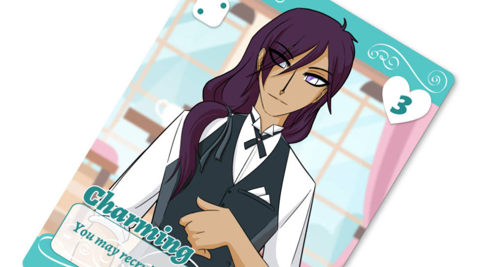 Cafe Romantica charming boy card preview